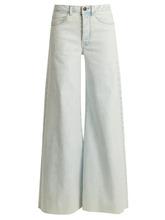 Raey | Raey - Loon Wide Leg Jeans - Womens - Blue White | Clouty