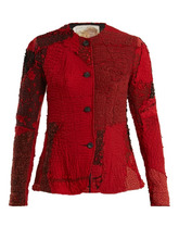 By Walid | By Walid - Yoni 19th Century Panelled Silk Jacket - Womens - Red Multi | Clouty