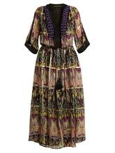 Etro | Etro - Embellished Silk Blend Chiffon Dress - Womens - Pink Multi | Clouty