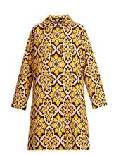 La DoubleJ | La Doublej - Tile Print Cotton Velvet Coat - Womens - Yellow Multi | Clouty