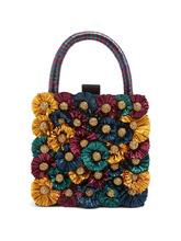 Sanayi 313 | Sanayi 313 - Flora Embellished Twill Box Clutch - Womens - Multi | Clouty