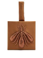 Sanayi 313 | Sanayi 313 - Ragno Embroidered Satin Clutch - Womens - Bronze | Clouty