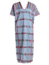 Pippa Holt | Pippa Holt - No.59 Embroidered Cotton Kaftan - Womens - White Multi | Clouty
