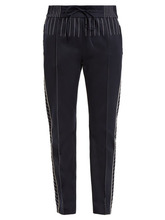 VALENTINO | Valentino - Slim Leg Jersey Track Pants - Womens - Navy | Clouty