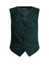 Dolce & Gabbana | Dolce & Gabbana - Cordonetto Lace Waistcoat - Womens - Green | Clouty