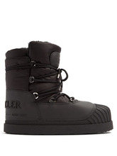 MONCLER | Moncler - Uranus Lace Up Apres Ski Boots - Mens - Black | Clouty