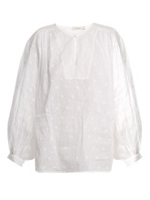 Mes Demoiselles | Mes Demoiselles - Organdy Glor Embroidered Top - Womens - Ivory | Clouty