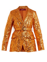 Sies Marjan - Terry Crinkled Finish Blazer - Womens - Orange | Clouty