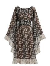 Lisa Marie Fernandez | Lisa Marie Fernandez - Anita Polka Dot And Daisies Print Dress - Womens - Black White | Clouty