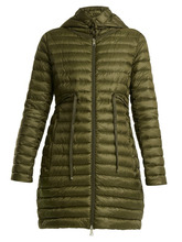 MONCLER | Moncler - Barbel Quilted Down Hooded Coat - Womens - Khaki | Clouty