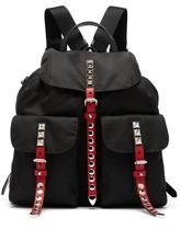 PRADA | Prada - Stud Embellished Nylon Backpack - Womens - Black Multi | Clouty
