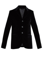 Connolly | Connolly - Single Breasted Velvet Blazer - Womens - Black | Clouty