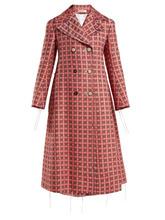 Marni | Marni - Frayed Threads Double Breasted Tweed Coat - Womens - Pink Multi | Clouty
