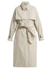 Bottega Veneta | Bottega Veneta - Single Breasted Cotton Blend Trench Coat - Womens - White | Clouty