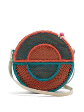Sophie Anderson | Sophie Anderson - Nilsa Circle Toquilla Straw Cross Body Bag - Womens - Blue Multi | Clouty