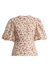 Emilia Wickstead | Emilia Wickstead - Selena Floral Print Blouse - Womens - Yellow Print | Clouty
