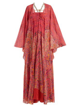 Etro | Etro - Paisley Print Embellished Silk Georgette Gown - Womens - Pink Print | Clouty
