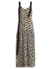 JOSEPH | Joseph - Celeste Floral Print Silk Dress - Womens - Black Print | Clouty
