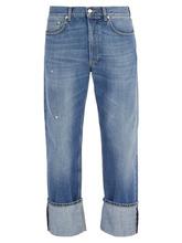 Alexander McQueen   Alexander Mcqueen - Floral Embroidered Straight Leg Jeans - Mens - Light Blue   Clouty
