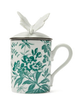 GUCCI | Gucci - Herbarium Printed Butterfly Topped Mug - White Multi | Clouty