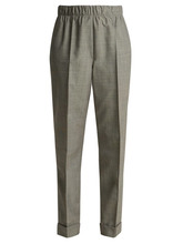 Helmut Lang | Helmut Lang - Tailored Wool And Mohair Blend Trousers - Womens - Grey | Clouty