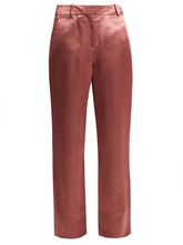 Sies Marjan | Sies Marjan - Tatum Satin Trousers - Womens - Dark Pink | Clouty