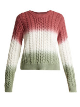 Sies Marjan | Sies Marjan - Britta Cable Knit Cotton Sweater - Womens - Pink Multi | Clouty