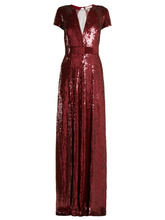 Temperley London   Temperley London - Ray Sequined Gown - Womens - Dark Red   Clouty