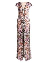 Temperley London   Temperley London - Safari Print Silk Dress - Womens - White Multi   Clouty