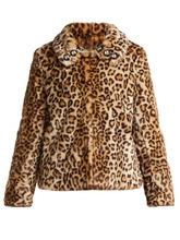 Shrimps - Junior Leopard Print Faux Fur Jacket - Womens - Leopard | Clouty