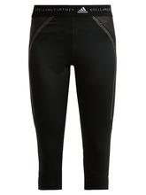 adidas by Stella McCartney | Adidas By Stella Mccartney - Run Cropped Performance Leggings - Womens - Black | Clouty