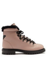 VALENTINO | Valentino - Rockstud Leather Hiking Boots - Womens - Black Nude | Clouty