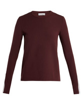 Paco Rabanne | Paco Rabanne - Bodyline Long Sleeved Performance T Shirt - Womens - Burgundy | Clouty