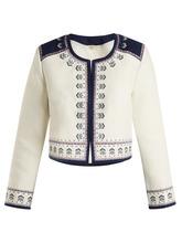 Talitha | Talitha - Talia Embroidered Cotton Jacket - Womens - Ivory | Clouty