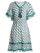 Talitha | Talitha - Amyra Silk And Cotton Blend Dress - Womens - Green Print | Clouty