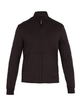 C.P. Company | C.p. Company - High Neck Zip Through Cotton Sweatshirt - Mens - Black | Clouty