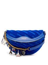 Balenciaga | Balenciaga - Souvenir Velvet Belt Bag - Womens - Blue | Clouty