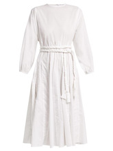 Rhode Resort | Rhode Resort - Devi Braided Belt Cotton Dress - Womens - White | Clouty