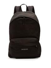 Balenciaga | Balenciaga - Explorer Logo Embroidered Nylon Backpack - Mens - Black | Clouty