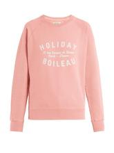 Holiday Boileau | Holiday Boileau - Logo Print Cotton Sweatshirt - Womens - Nude | Clouty