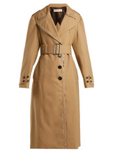 Marni | Marni - Belted Wool Trench Coat - Womens - Beige Multi | Clouty