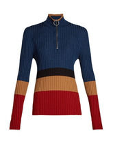 Marni | Marni - High Neck Colour Block Sweater - Womens - Red Multi | Clouty