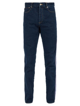 GIVENCHY | Givenchy - Logo Side Stripe Slim Fit Jeans - Mens - Indigo | Clouty