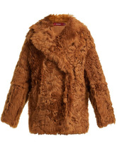 Sies Marjan | Sies Marjan - Pippa Double Breasted Shearling Coat - Womens - Brown | Clouty