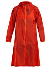 calvin klein performance   Calvin Klein Performance - Hooded Water Repellent Coat - Womens - Orange   Clouty
