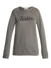 Rodarte | Rodarte - Radarte Cotton Sweatshirt - Womens - Grey | Clouty