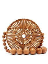 Cult Gaia | Cult Gaia - Luna Bamboo Basket Bag - Womens - Tan | Clouty