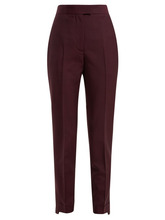 Acne Studios   Acne Studios - Tailored Wool Blend Trousers - Womens - Burgundy   Clouty