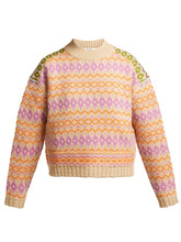 Acne Studios | Acne Studios - Fair Isle Wool Sweater - Womens - Cream Multi | Clouty