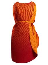 ISSEY MIYAKE | Issey Miyake - Pleated Cocoon Dress - Womens - Orange | Clouty